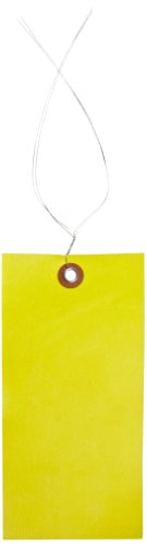 100 Yellow Small Case - Quality Park G14083B Tyvek Spunbonded Olefin Pre-Wired Shipping Tag, 6-1/4