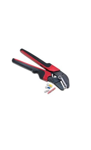 Burndy MRE10-22NV No.10 and No.22 Nylon and Vinyl Insulated Terminals and Splices Hytool Ergonomic Full Cycle Ratchet Hand (Full Cycle Ratcheting Crimper)