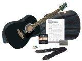 Silvertone SD3000PAK BK  -String Acoustic Guitar by Silvertone
