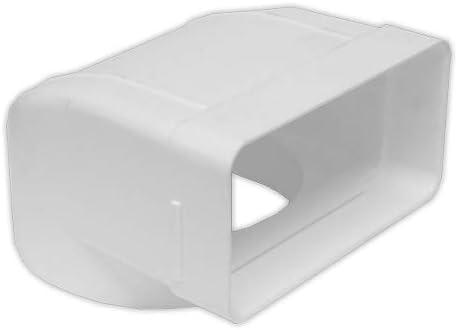 Codo 90grados vertical rectangular 110x55 mm PVC ESTANDAR Codos DOJA Industrial