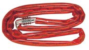 Master Lock Barrel Combination Bike Lock & Chain 4 Dial 4' Steel Red Carded