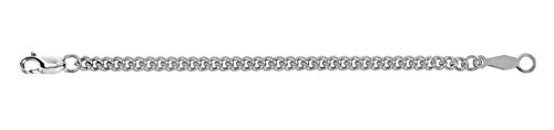 2.25mm Sterling Silver Curb Chain Necklace Extender Safety Chain 2.5