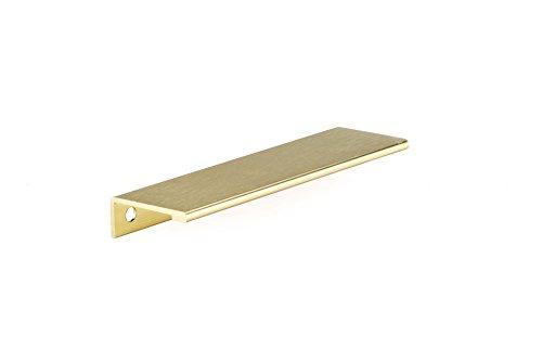 (Richelieu Hardware - BP9898128166 - Contemporary Aluminum Edge Pull - 9898 - 5 1/32 in (128 mm) - Satin Gold  Finish)