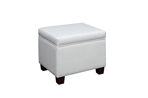 Convenience Concepts Designs4Comfort Madison Storage Ottoman, White, (Storage White Ottoman)