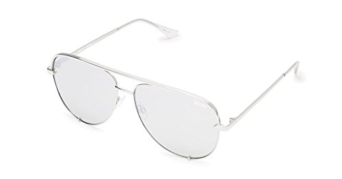 Quay Women's Quay x Desi Perkins High Key Sunglasses, Silver/Silver Mirror, One - Polarized Australia Sunglasses