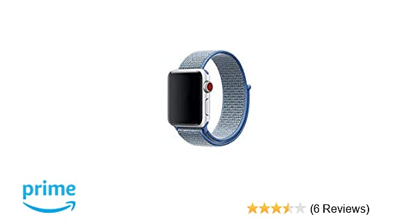 840e2be59 ... Band Compatible with Apple Watch 44mm 42mm 40mm 38mm, Adjustable Closure  Wrist Strap Replacement Band for iWatch, Nike+, Series 4, 3, 2, 1 (Ocean  Blue, ...