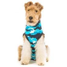 Suitical Recovery Suit for Dogs - Blue Camo - size - Warehouse Suit