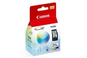 Canon CL-211XL Extra Large Color Ink Inkjet Cartridge For PIXMA MP240 And MP480