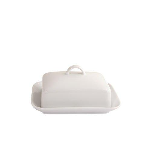 Arctic Vitrified Porcelain Butter Dish, White Fairmont & Main RW66