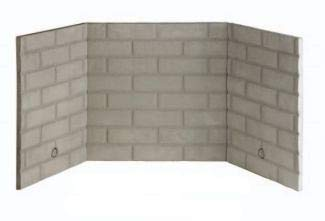 Superior Fireplaces BLB36SF 36-Inch White Stacked Ceramic Fiber Brick Liner