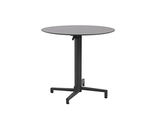 Compact 31.5 Inch Laminate Round Table Top in Anthracite [Set of 2]