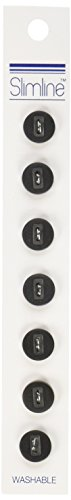 [Slimline Buttons Series 1-Black 2-Hole 3/8