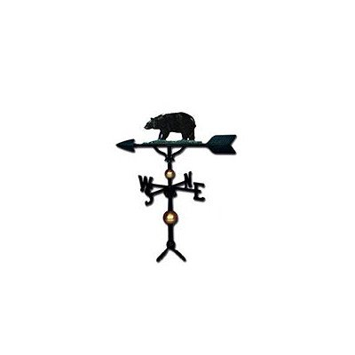 Montague Metal Products 32-Inch Deluxe Weathervane with Swedish Iron Bear Ornament