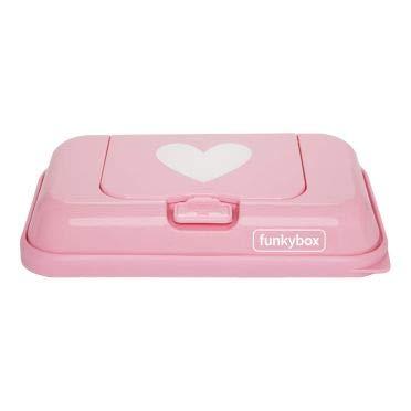 Funkybox TO GO Feuchtt/ücher Box Herz rosa