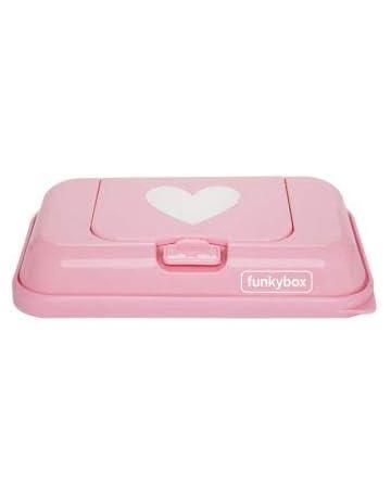 Funkybox TO GO - Toallitas húmedas, diseño de corazón, color rosa