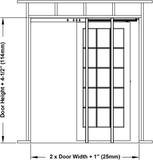 2650 Series-Heavy Duty Pocket Door Frame Kits- 2 x 6 HBP (32'' x 80'') by Hartford Building Products (Image #6)