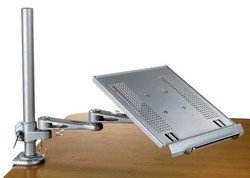 Articulating Laptop and Keyboard Arm Tray Clamp and Wall mount (Clamps Mount Wall)