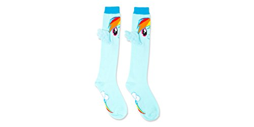 My Little Pony 1 Pair 3D wings Ladies and Juniors Knee Socks, 9-11, Multi