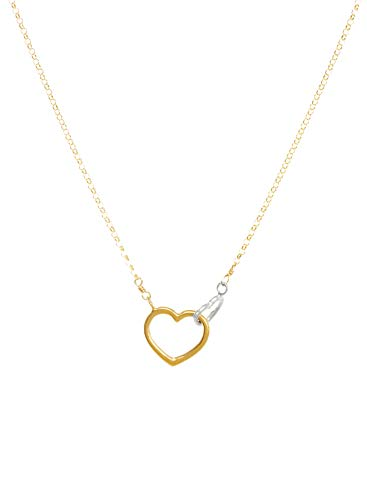 Linked Hearts Necklace - Dogeared Women's Do All The Things with Love Two Linked Hearts Necklace Gold Dip One Size