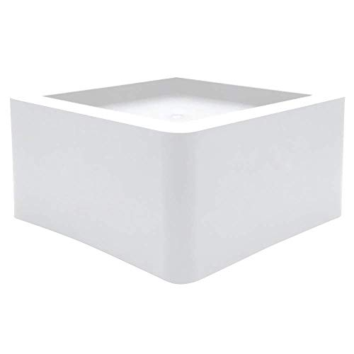 DuraCasa 3 Inch Bed Risers - Fits Huge 5.5 Inch Bed or Furniture Post, Creates an Additional 3 Inches of Height or Storage! Heavy-Duty Table, Chair, Desk or Sofa Riser - White Riser Bed