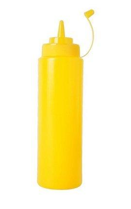 Cristoferv 1pcs 240ml dispensador de Botellas de condimento de plástico con Tapa Salsa de Barbacoa Salsa