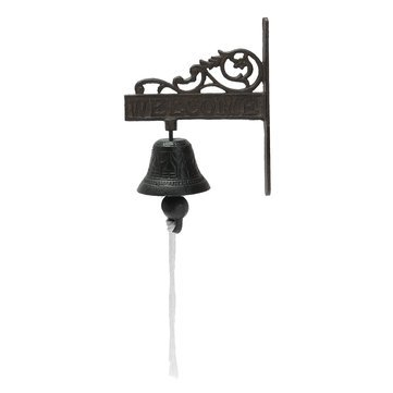(Chains Doorway Chime - Vintage Rustic Solid Metal Cast Iron Hanging Wall Mounted Home Doorbell - Cast-Iron Alexander Graham Branding Campana Gong Threshold Smoothing Access Buzzer - 1PCs)