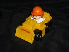 Fisher Price / Little People ~ BULL DOZER (Yellow) ~ 2010