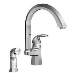 Felicity One Handle Widespread High Arc Kitchen Faucet with Convenient Side Spray Finish: Chrome (Felicity One Handle Kitchen)