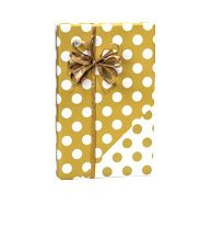 - Extra Long Metallic Gold Foil and White Polka Dot Double Sided Gift Wrap Wrapping Paper Large 18ft Roll