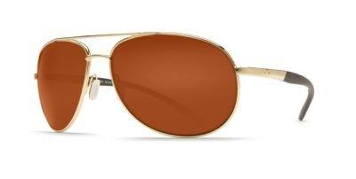 Costa Del Mar Wingman Sunglasses, Gold, Copper 580Plastic Le