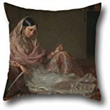 The Oil Painting Francesco Renaldi - Muslim Lady Reclining Pillow Shams Of ,20 X 20 Inches / 50 By 50 Cm Decoration,gift For Chair,teens Boys,boys,club,outdoor,teens Boys (each Side)