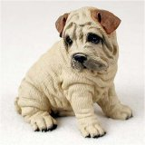 (Shar Pei, Cream Original Dog Figurine (4in-5in))