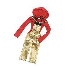 MOXIE GIRLZ FASHION PACK GOLD JUMPSUIT/RED LONG SLEEVE TOP by Moxie Girlz by Moxie Girlz