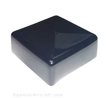Prescott Plastics 8 Pack: Square Black Vinyl End Cap 2.0 Flexible Pipe Post Rubber Cover 2