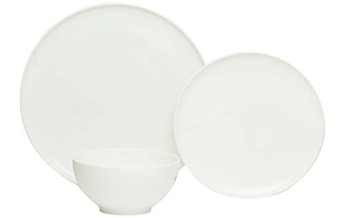 Red Vanilla ET1900-018 18 Piece Every Time Dinner Set, White - HIGH QUALITY, DURABLE PORCELAIN: Porcelain is a highly durable, BPA Free, lightweight material that is easy for handling and easy to care for. GREAT FOR EVERYDAY USE AND ENTERTAINMENT: Our Every Time White Dinner set is a classic white color with a smooth finish and characteristic contemporary design perfect for all occasions from family friendly everyday dinners to elegant formal occasions and entertaining. A pattern sure to compliment any décor that pairs perfectly with existing patterns for a fun and picture worthy table spread. RED VANILLA IS DESIGN WITH FLAVOR: This tasteful design feels high end with the ease and durability of being dishwasher safe, heat resistant, microwave safe, and oven safe up to 200 degrees Fahrenheit. - kitchen-tabletop, kitchen-dining-room, dinnerware-sets - 21U7va2%2BLAL -