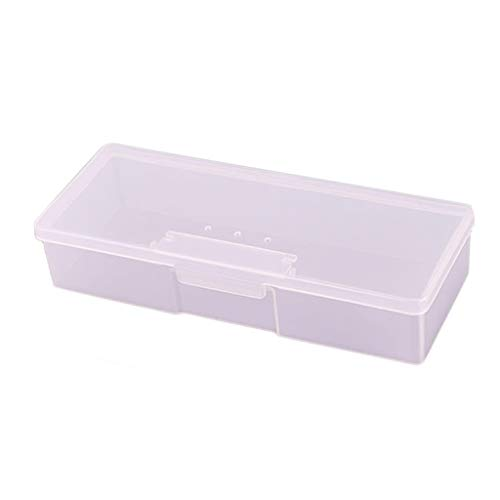 GaoCold New Transparent Empty Nail Storage Box Manicure Tools Organizer Case Holder (Translucent Pink) from GaoCold