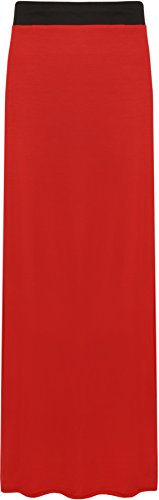 WearAll - Maxi-jupe simple et lastique - Jupes - Femmes - Grandes tailles 40  54 Rouge