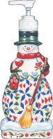 Certified International Winter Folk 3-D Soap/Lotion Dispenser, 8-3/4-Inch