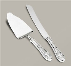 (Ricci Argentieri Japanese Bird And Bamboo Cake Knife And Server)
