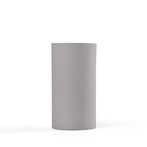 HaloVa Vase, Modern Decorative Flower Vase, Quality Frosted Ceramic Vase for Living Room Office Study Dining Desk, Gray