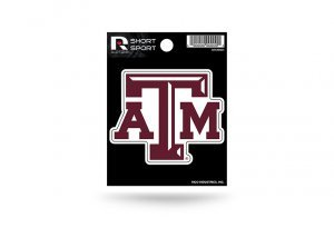 Rico Industries NCAA Texas A&M Aggies Die Cut Team Logo Short Sport ()