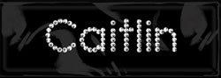 (Rhinestone/Brad Name Stickers-Caitlin )
