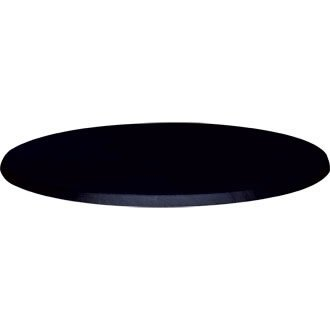 Round Commercial Black Table Top Color: Black. 31 1/2(dia)''