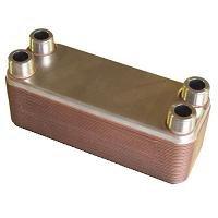 10-plate Brazed Plate Heat Exchanger - 3/4'' MNPT ports by Brazetek