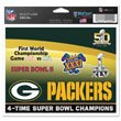 WinCraft Green Bay Packers 4 Times Super Bowl Champion Ultra Decal
