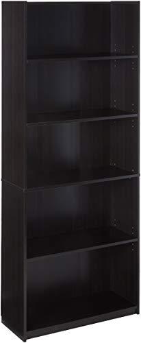 Mainstays 5-Shelf Bookcase, Multiple Colors Espresso