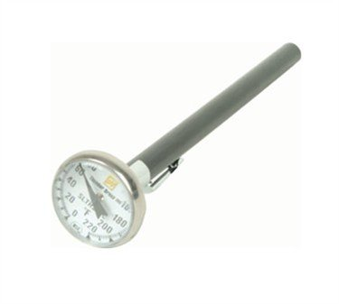 Pocket Thermometer, 0 To 220??F Temperature Capacity, Dial Display, Includes Stainless Steel Case (12 Pieces/Unit)