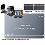 3M PF140W9B Black Frameless Privacy Filter for 14'' Widescreen Laptop (16:9) (161362)