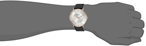 Kenneth Cole New York Men's Classic Stainless Steel Quartz Watch with Leather Strap, Black, 20 (Model: KC15097002)