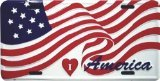 Metal Patriotic (HangTime I Love America Patriotic Metal License Plate 6 x 12)